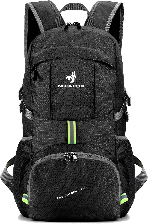 NEEKFOX Mochila Ligera y compacta para Viaje, Excursionismo o Uso Diario, Mochila para Acampar Plegable de 35 L