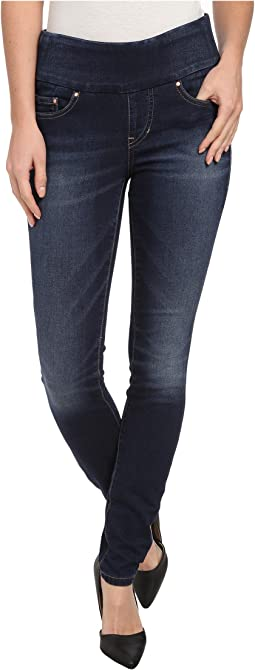 Nora Pull-On Skinny Knit Denim in Blue Ridge