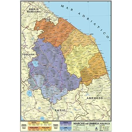 Cartina Del Molise Geografica.Carta Geografica Murale Regionale Marche Umbria 100x140 Bifacciale Fisica E Politica Amazon It Cancelleria E Prodotti Per Ufficio