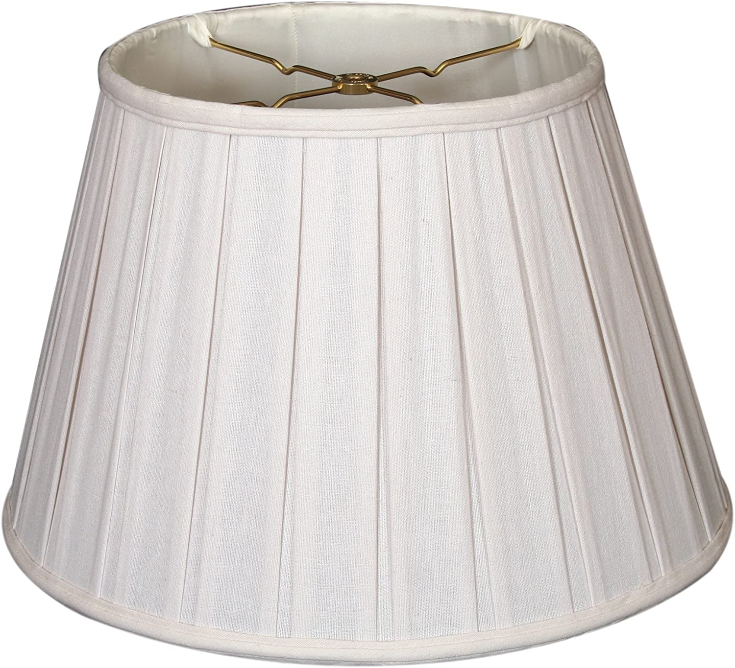 Royal Designs DBS-724-18LNWH Series Empire English Pleat Basic Lamp Shade, Linen White, 11 x 18 x 12