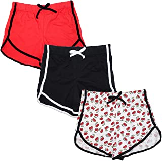 JUST 2 CUTE Girls 3-Pack Workout & Fashion Dolphin Shorts