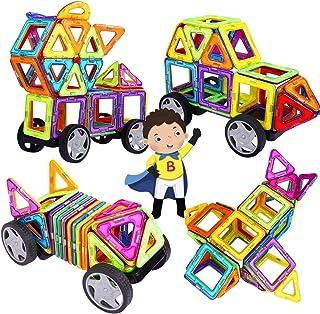 INTEY - 【Mini 32 Piezas 】Bloques De Construcción Magnéticos,Juguetes Construcciones Para Niños Construir Una Casa, Un Coch...