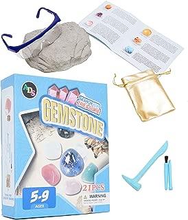 ADS Ultimate Mega Gem Dig Kit - Dig up 21 Real Gemstones | Great Science, Gemology, Mining Gift Kids, Boys Girls | Rocks, Minerals, Excavation Toys Including 1 Goggle