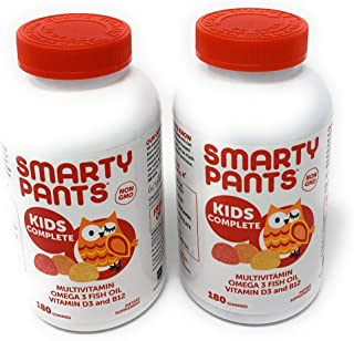 SmartyPants Children's All-in-One Multivitamin Plus Omega-3 Plus Vitamin D (2 pack 180ct total 360ct)