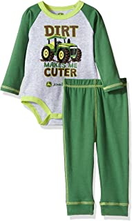 John Deere Baby Boys' 2 Piece Bodysuit and Pant Set