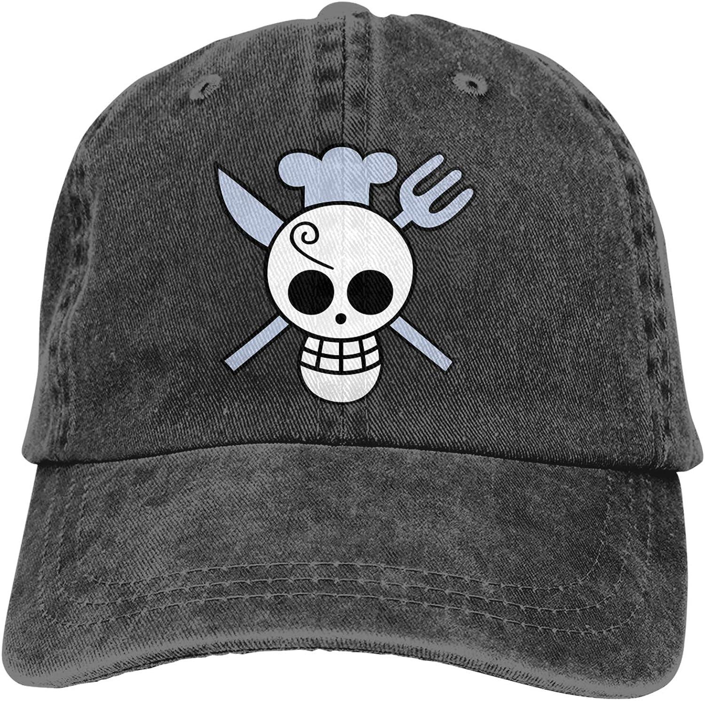RUIHGK Cute One Piece Sanji Denim Cap Adjustable Casquettes Baseball Cowboy Hat