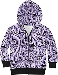 Rainbow Rules Ursula Disney Villains Inspired Kids Zip Up Hoodie Unisex