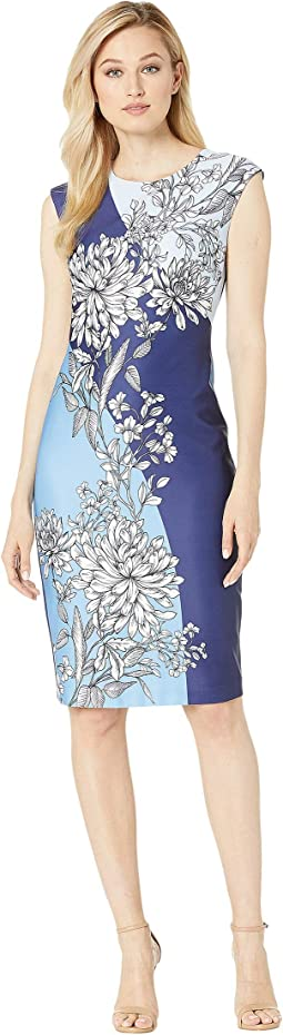 77808d606eaf Vince camuto printed cotton sleeveless fit and flare dress | Shipped ...
