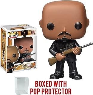 Funko Pop! TV: The Walking Dead - Gabriel #386 Vinyl Figure (Bundled with Pop Box Protector Case)