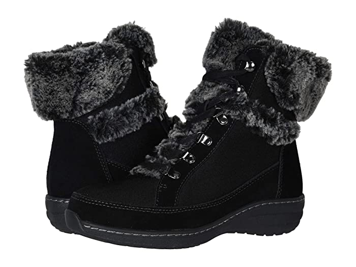 Aetrex  Fiona (Black) Womens Lace-up Boots