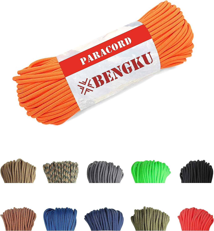 BENGKU 850lb Paracord Parachute Cord - Mil-Spec US Spring new work IV Grade Ranking TOP8 Type
