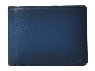 Tumi Nassau Double Billfold (Blue Burnished) Bill-fold Wallet