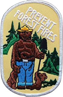 Smokey Bear Vintage Prevent Forest Firest with Cubs Iron On Patch - 1979