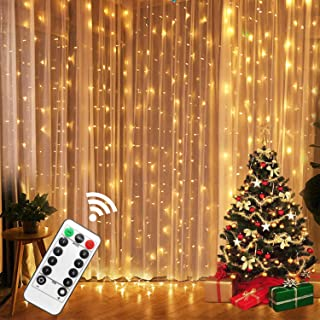 AUSPICE Curtain Lights, LED String Window Curtain Lights, Sparkling Star Warm Light for Home Decoration, Halloween, Parties, Christmas, Kid's Bedroom