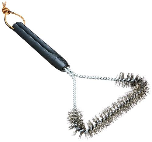 Weber-6494-12-Inch-3-Sided-Grill-Brush,-Black