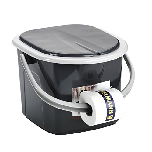 Branq Toilettes 15,5 litres de Camping Toilettes Seau WC extérieur Voyage