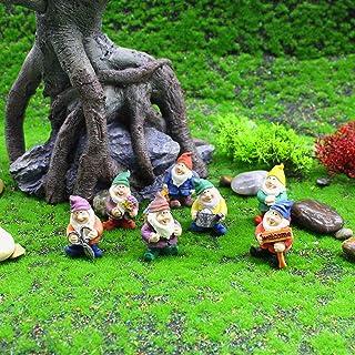 Xgood Seven Dwarfs Decoration Gnome Figurine Novelty Garden Ornaments Fairy Garden Accessory Disney Traditional Statue Dec...