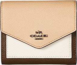 COACH - Small Wallet in Color Block Leather