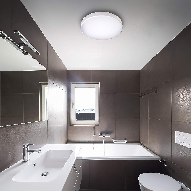 B.K.Licht LED Deckenleuchte spritzwassergeschützt IP20 20W LED ...