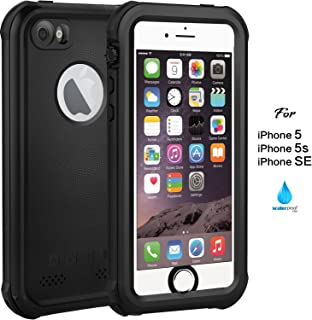 ASAKUKI IP68 Waterproof Case Compatible For iPhone 5 5S SE, Full Body Case with Screen Protector Shockproof Scratchproof Dustproof Case Compatible For iPhone 5 5S SE