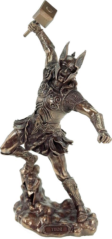 veronese statuetta di dio nordico di thor