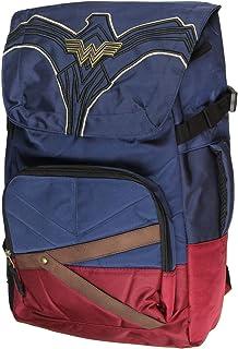 DC Comics Wonder Woman Costume Laptop Backpack w/Padded Tech Sleeve And Metal WW Logo