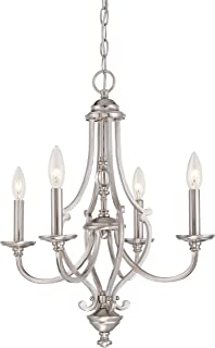 Minka Lavery Chandelier Lighting 3331-84 Savannah Row, 4-Light 240 Watts, Brushed Nickel