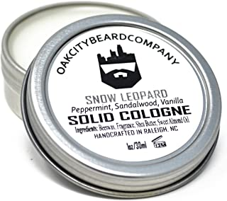 OakCityBeardCo. - Snow Leopard - Men's Solid Cologne - 1oz