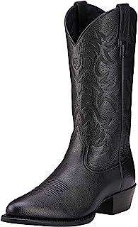 حذاء رعاة البقر الغربي ذو الرقبة للرجال من Ariat Heritage R Toe