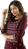 SINGNI Women;s Rayon Embroidered Straight Kurta and Pant Set/Ethnic wear/Tradtional Wear/Kurti Botton Set/Kurti Pant Set...