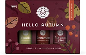 Woolzies Hello Autumn Set of 3 | Therapeutic Grade Aromatherapy Oil Blends | for Diffuser or Topical Use | Incl. Vanilla, Cinnamon & Autumn Spice Essential Oil Blends | 10 ML