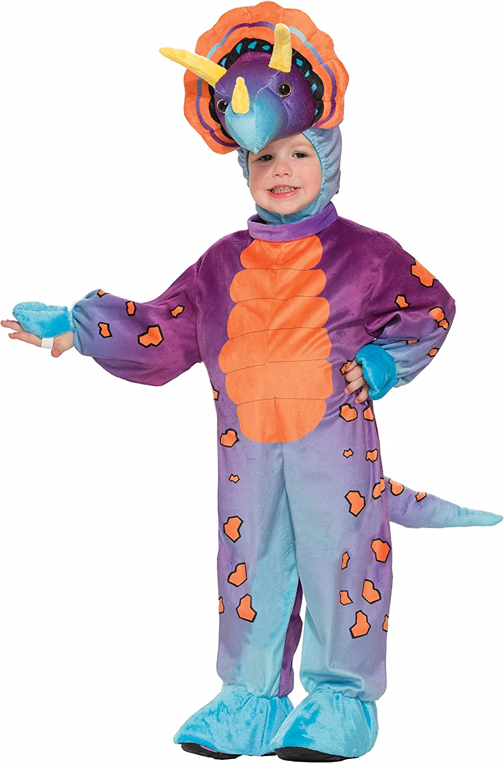 Forum Novelties Kids Spunky Triceratops Costume, Multicolor, Toddler