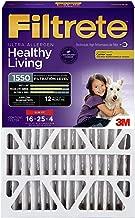 Filtrete 16x25x4, AC Furnace Air Filter, MPR 1550 DP, Healthy Living Ultra Allergen Deep Pleat, 4-Pack (Renewed)