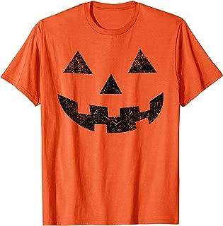 Vintage Jack-O-Lantern Pumpkin Face Halloween Costume Shirt