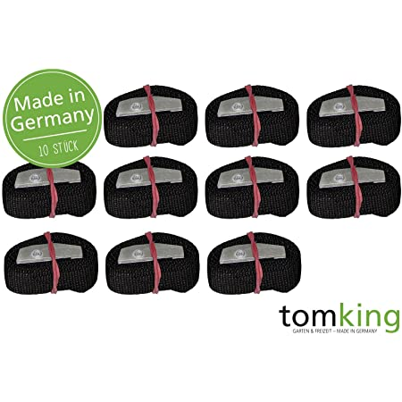10 X Befestigungsriemen 50 Cm X 25 Mm 250 Kg Made In Germany Spanngurte Zurrgurte Schnallgurte Klemmschloss Auto