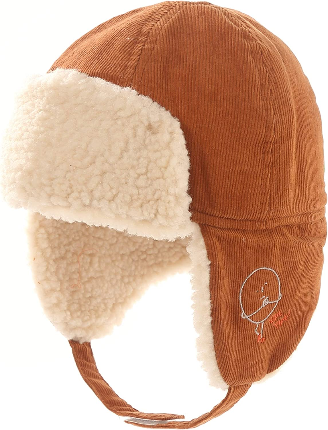 Connectyle Toddler Boys Kids Cotton Trapper Winter Hat with Large Flaps Warm Hat