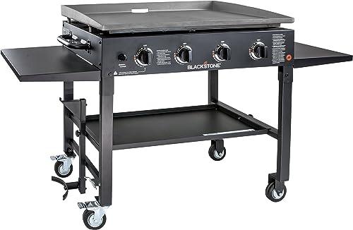 Blackstone 1554 Station-4-burner-Propane Fueled-Restaurant Grade-Professional 36 inch Outdoor Flat Top Gas Grill Grid...