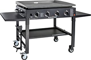 Blackstone 1554 Station-4-burner-Propane Fueled-Restaurant Grade-Professional 36 inch Outdoor Flat Top Gas Griddle Station-4-bur, 4 Burner, 36