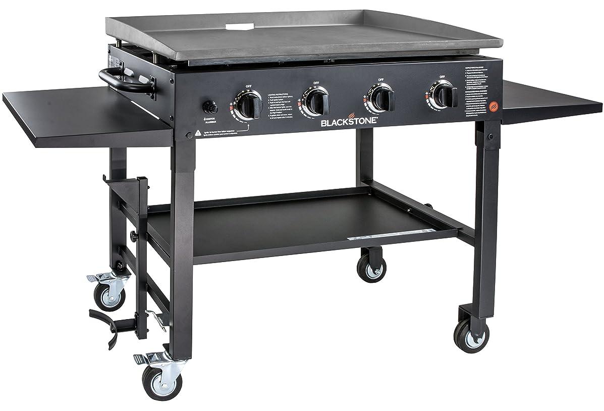 Blackstone 1554 Station-4-burner-Propane Fueled-Restaurant Grade-Professional 36 inch Outdoor Flat Top Gas Griddle Station-4-bur, 36