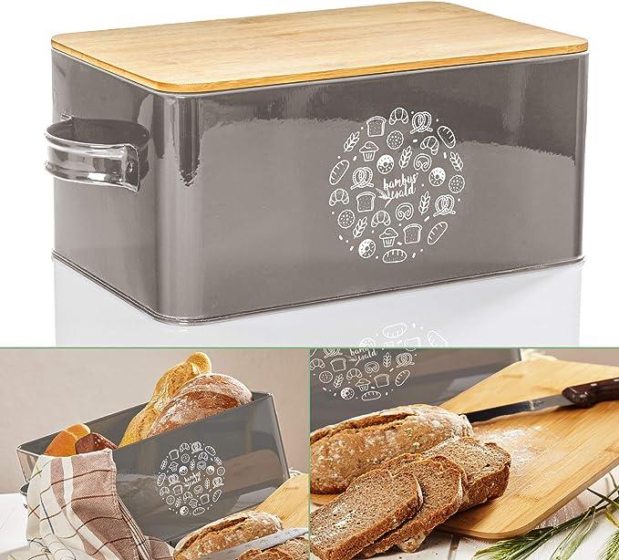 173 opinioni per bambuswald© contenitore pane in metallo con coperchio in bambù ecologico- ca