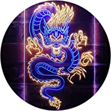 Chinese Dragon Room Display Dual Color LED Neon Sign Blue & Yellow 400 x 600mm st6s46-i3225-by