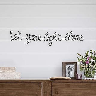Lavish Home Metal Cutout- Let Your Light Shine Cursive Sign-3D Word Art Home Accent..
