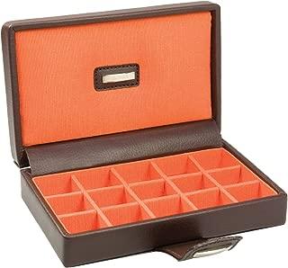 Dulwich Designs Brown & Orange Park Lane Cufflink Box