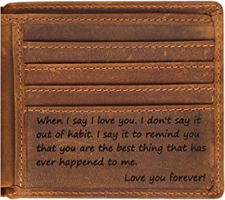Engraved Personalized Wallet For Men - Boyfriend, Husband