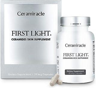 Ceramiracle First Light Ceramides Skin Supplement | Anti-Aging, Boost Hydration, Firmer Skin | Ceramosides Phytoceramides,...