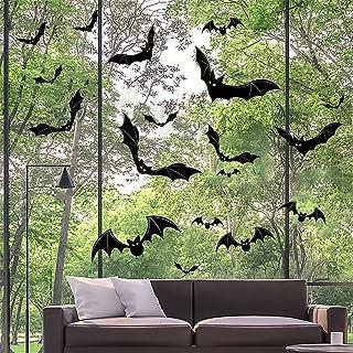 Halloween Vleermuizen Muurstickers, 66 Stuks PVC Vleermuizen Muurstickers Raamstickers Muurstickers voor Huisdeuren Ramen ...