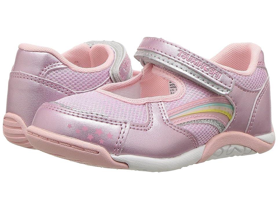 Tsukihoshi Kids Twinkle (Toddler/Little Kid) (Rose/Pink) Girls Shoes