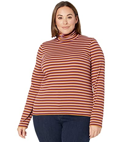 Madewell Ribbed Turtleneck Top in Chilton Stripe