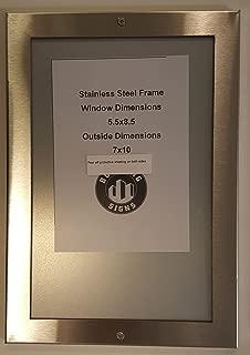 Elevator certificate frame 8.5