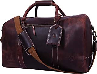 leather airline bag